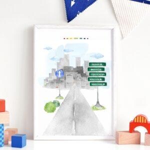 Plakat na ścianę Droga