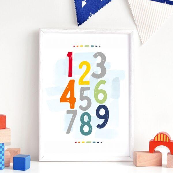 Plakat na ścianę Kolorowe Cyfry