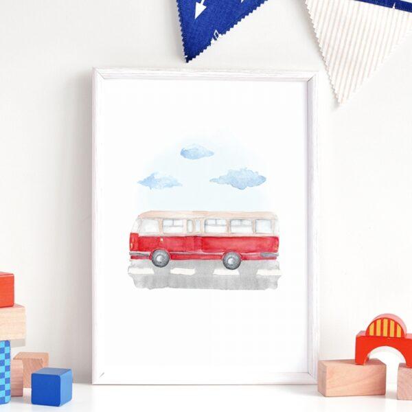 Plakat na ścianę Autobus