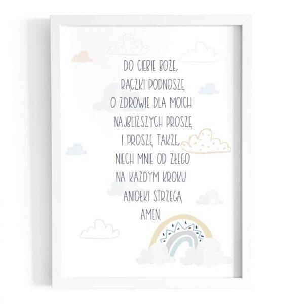 Plakat na ścianę modlitwa do Ciebie Boże