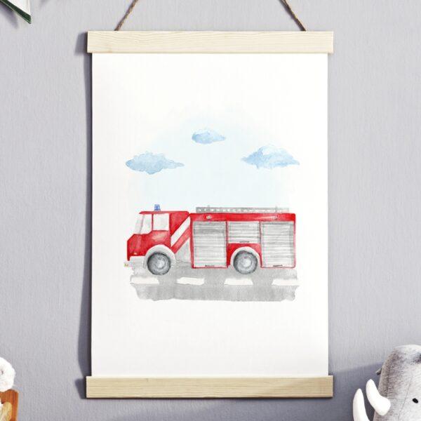 Plakat na ścianę Straż Pożarna