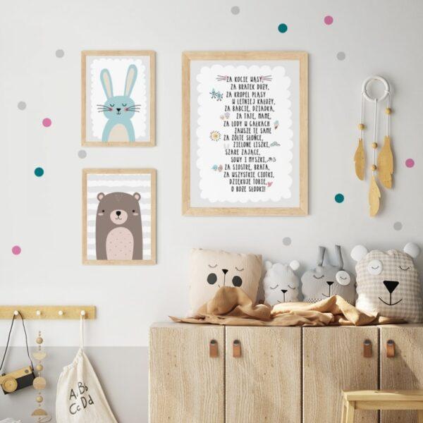 Plakat na ścianę czekoladowy miś