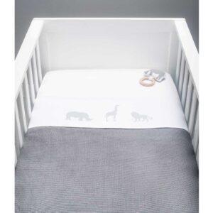 Kocyk dla dziecka tkany Stone Grey