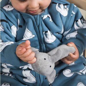 Grzechotka Elephant Grey