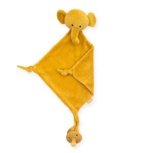 Przytulanka dla niemowlaka Elephant Mustard