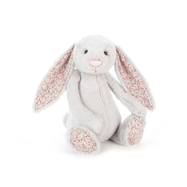 Maskotka królik szary z k. uszami 36 cm