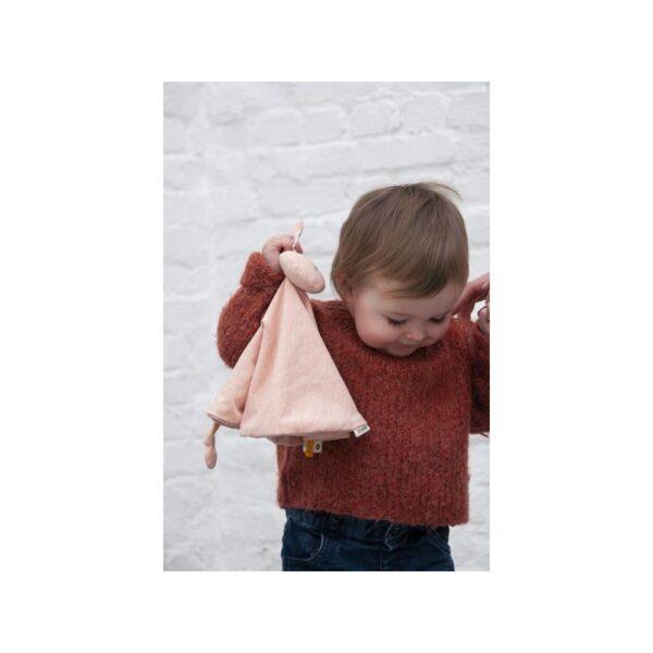 mrs rabbit szmatka przytulanka 4 600x600 - Królik przytulanka dla niemowlaka
