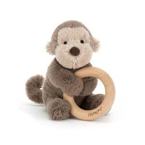 Grzechotka gryzak małpka 14cm