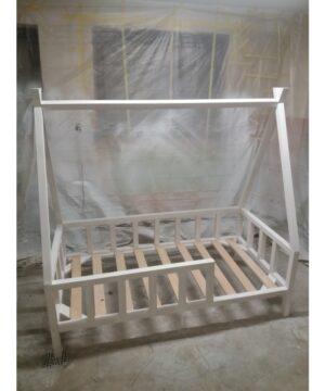 Białe łóżko tipi 140x70