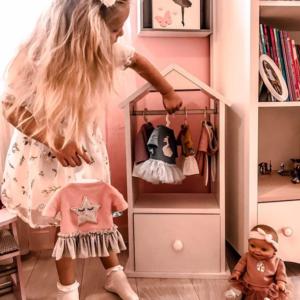 Garderoba dla lalek zabawka