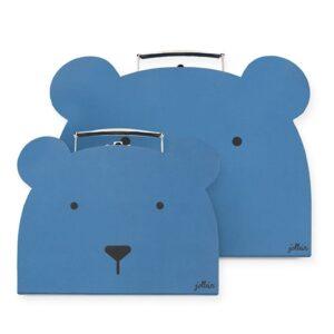 Walizki dla dzieci Animal Steel Blue 2 szt