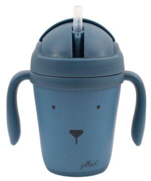Kubek dla dzieci do nauki picia Animal Club Steel Blue