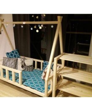 Drewniane łóżeczko tipi 120x60