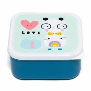 Śniadaniówka dla dziecka 3 szt Panda Love