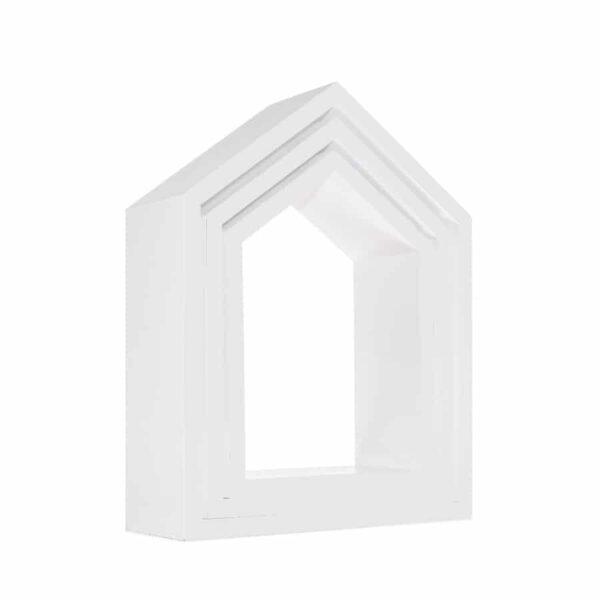 Półki domki zestaw białe