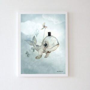 Plakat dla dzieci wieloryb Mubo