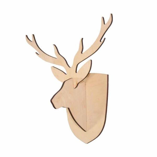 Trofeum na ścianę głowa jelenia
