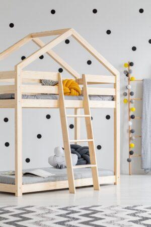 Piętrowe łóżko domek Milja 70x160