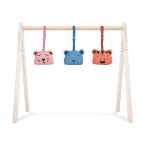 jollein 3 zabawki interaktywne animal club do stojaka babygym 5 300x300 - Zawieszki do stojaka edukacyjnego