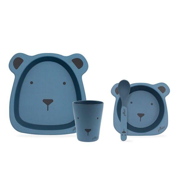 Zestaw naczyń dla dziecka Animal Club Steel Blue
