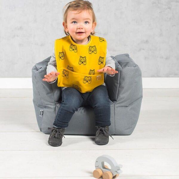 Fotel pufa dla dziecka Bean Big Storm Grey