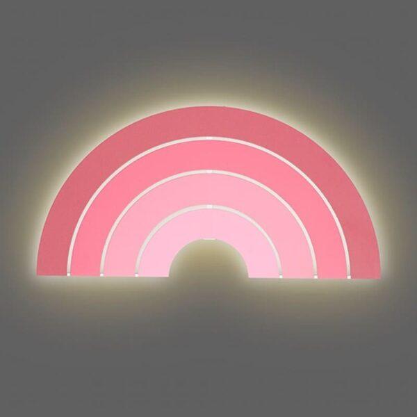 Lampa ścienna dla dzieci tęcza Pink