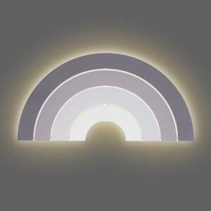 Lampa ścienna dla dzieci tęcza Grey