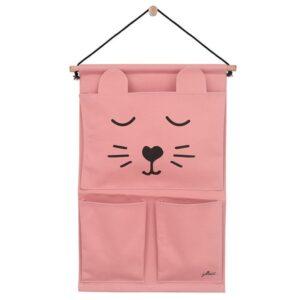 Przybornik do łóżeczka Canvas Animal Club Rouge