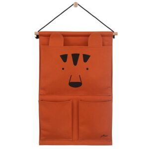 Przybornik do łóżeczka Canvas Animal Club Rust