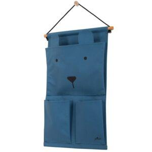 Przybornik do łóżeczka Canvas Animal Club Steel Blue