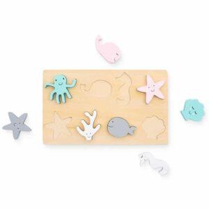 Drewniane puzzle dla dzieci Sea Animals