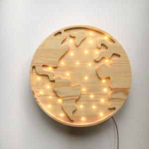 Lampa dla dzieci globus