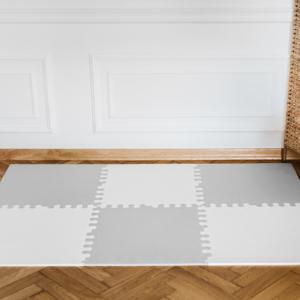 3. XL bialo szara 300x300 - Mata do zabawy dla dzieci szara XL