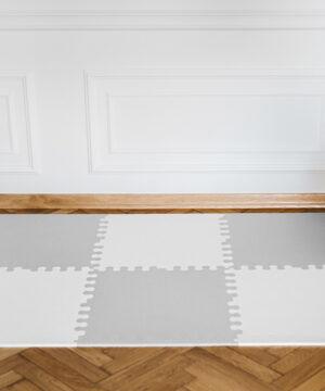 3. XL bialo szara 300x360 - Mata do zabawy dla dzieci szara XL