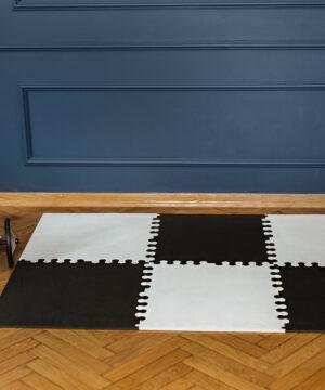 4. XL bialo czarna 300x360 - Mata do zabawy dla dzieci czarna XL