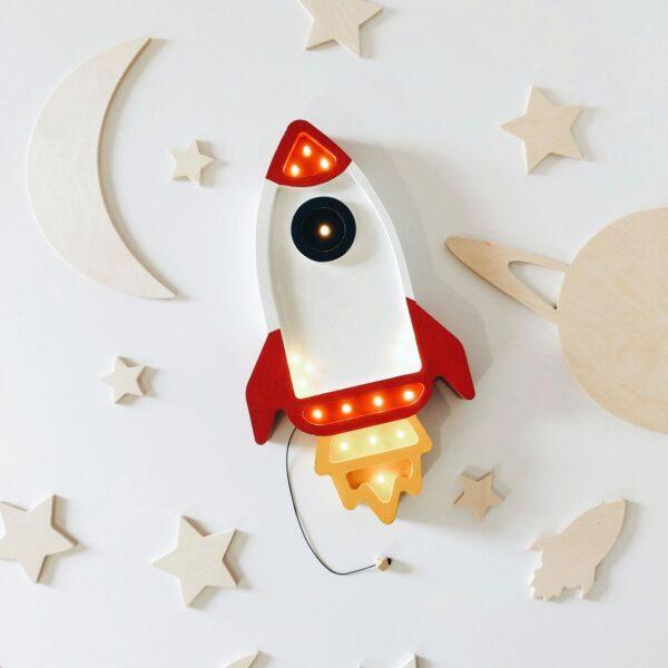 Lampa dla dzieci rakieta