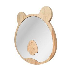 Drewniane luterko dla dziecka miś