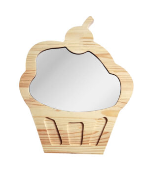 Drewniane luterko dla dziecka ciasteczko