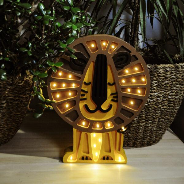 Lampa dla dzieci lew
