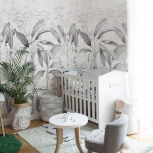 Tapeta dla dzieci Rajska Dżungla Black&White