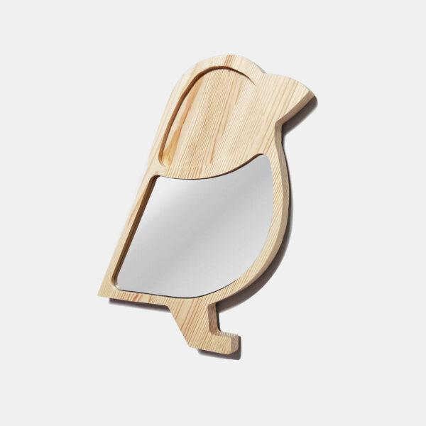 Drewniane luterko dla dziecka wróbelek