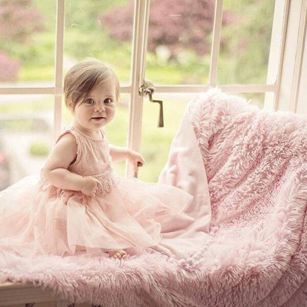Kocyk niemowlęcy Koochicoo Baby Pink