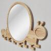 Drewniane luterko dla dziecka gąsieniczka
