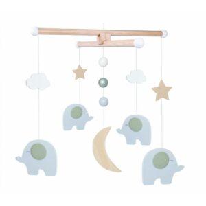 Karuzela nad łóżeczko szare słonie