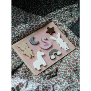 Drewniane puzzle jednorożec