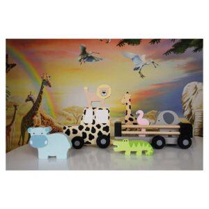 Drewniany samochód safari