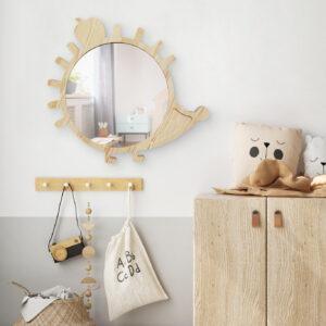Drewniane luterko dla dziecka jeż