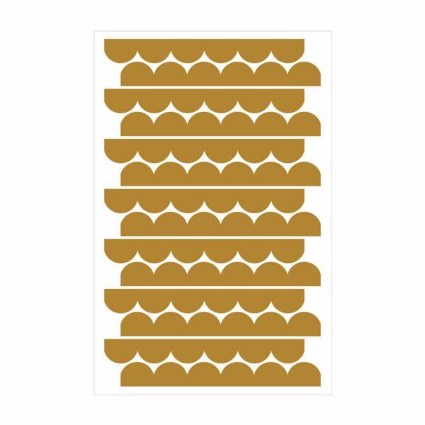 Naklejki Circles Mustard
