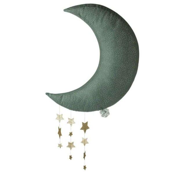 Dekoracja ścienna Sparkle Moon Green