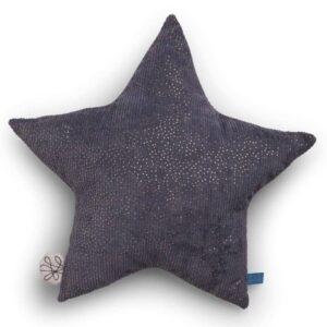 Poduszka dekoracyjna szara gwiazdka
